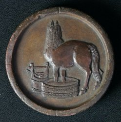 Antique horse Kawara 1800