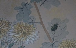 Antique wild flowers and insects 1800
