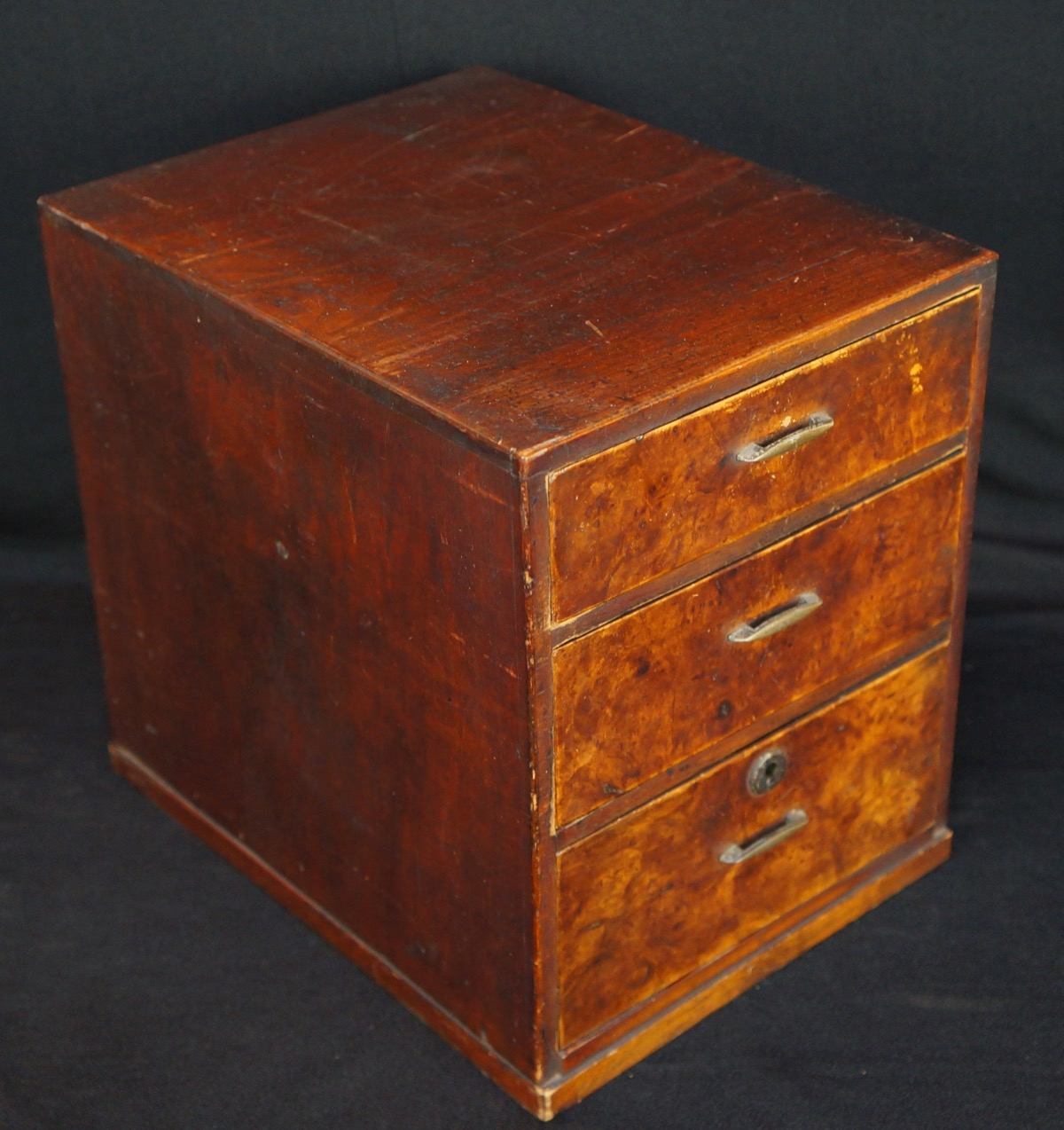 Vintage japanese jewelry box small cabinet 1900s japan for Vintage antique jewelry box