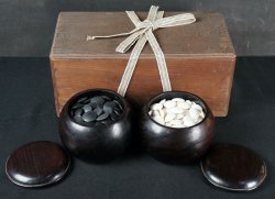 Hard wood Goishi 1900s