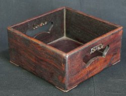 Hard wood tray 1900s