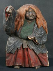 Japan wood sculpture 1800s