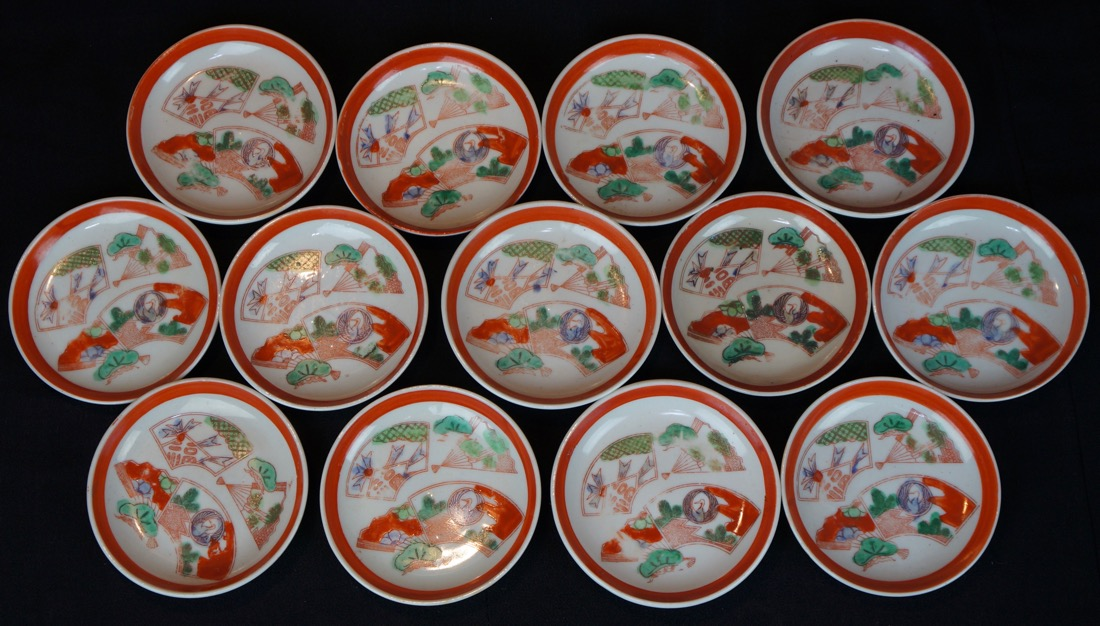 japanese-vintage & Antique Japanese Kosara small plates 1900 Japan ceramic art | eBay