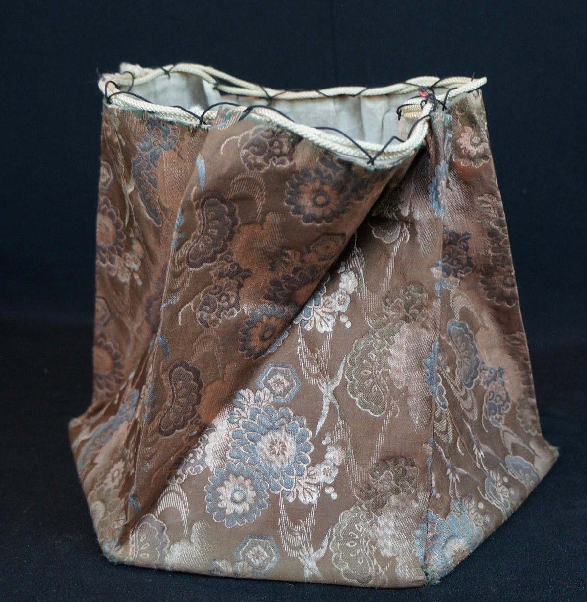 Antique traditional japanese kimono origami bag 1900 hand for Japan craft