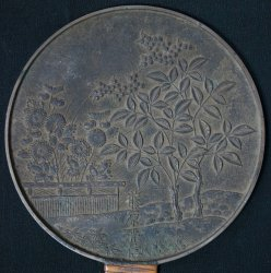 Kagami bronze craft mirror 1890