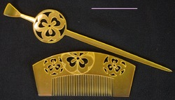 Hair pin and comb 1950s