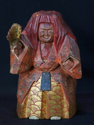 Noh wood carving 1890s