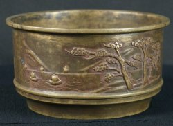Koboshi bronze craft vase 1890s
