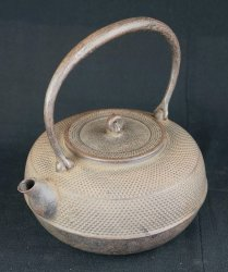 Nambu kettle sand cast 1900s