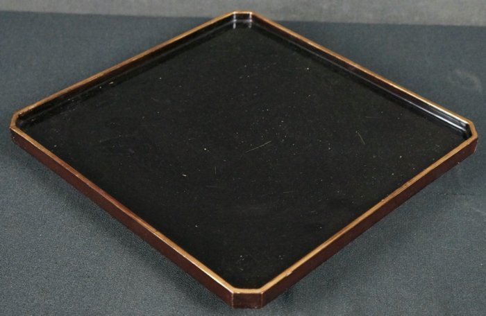 Obon tray lacquer wear 1900s