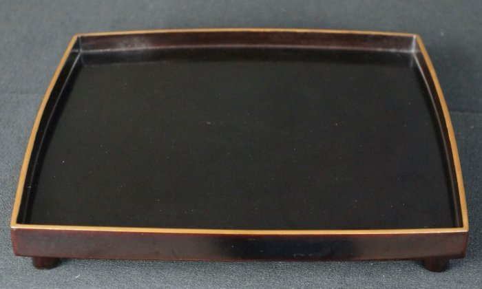 Obon tray lacquer wear 1920