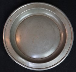 Antique Pewter plate 1800s