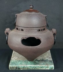 Sand cast Chagama kettle 1950s