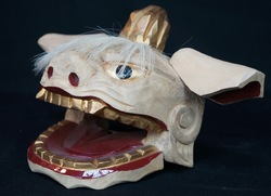 Shishi lion carving 1950s